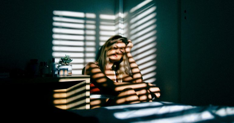 Girl Sitting Alone Blurred Line Between Grief and Depression